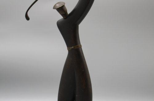 Antiquitäten in Basel: Metallfigur stehend Golfer